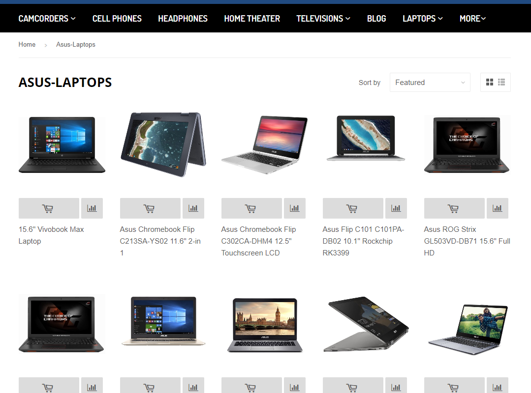 Laptops on storefront
