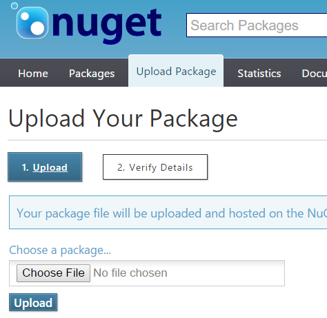 Choosing module file to upload to NuGet website