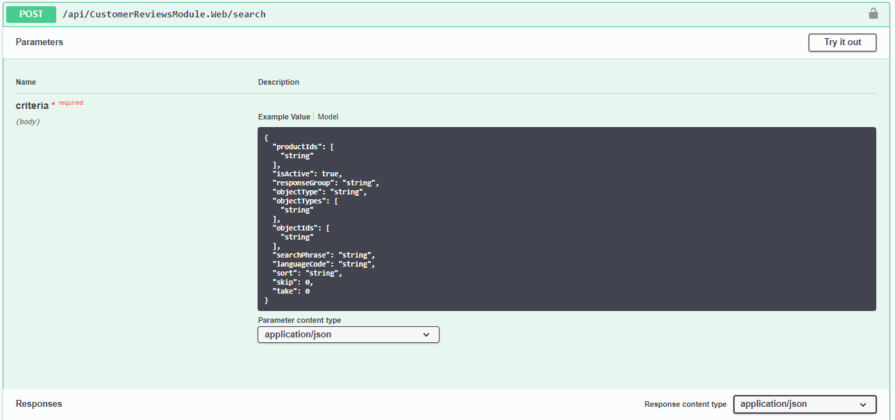 Swagger Search API