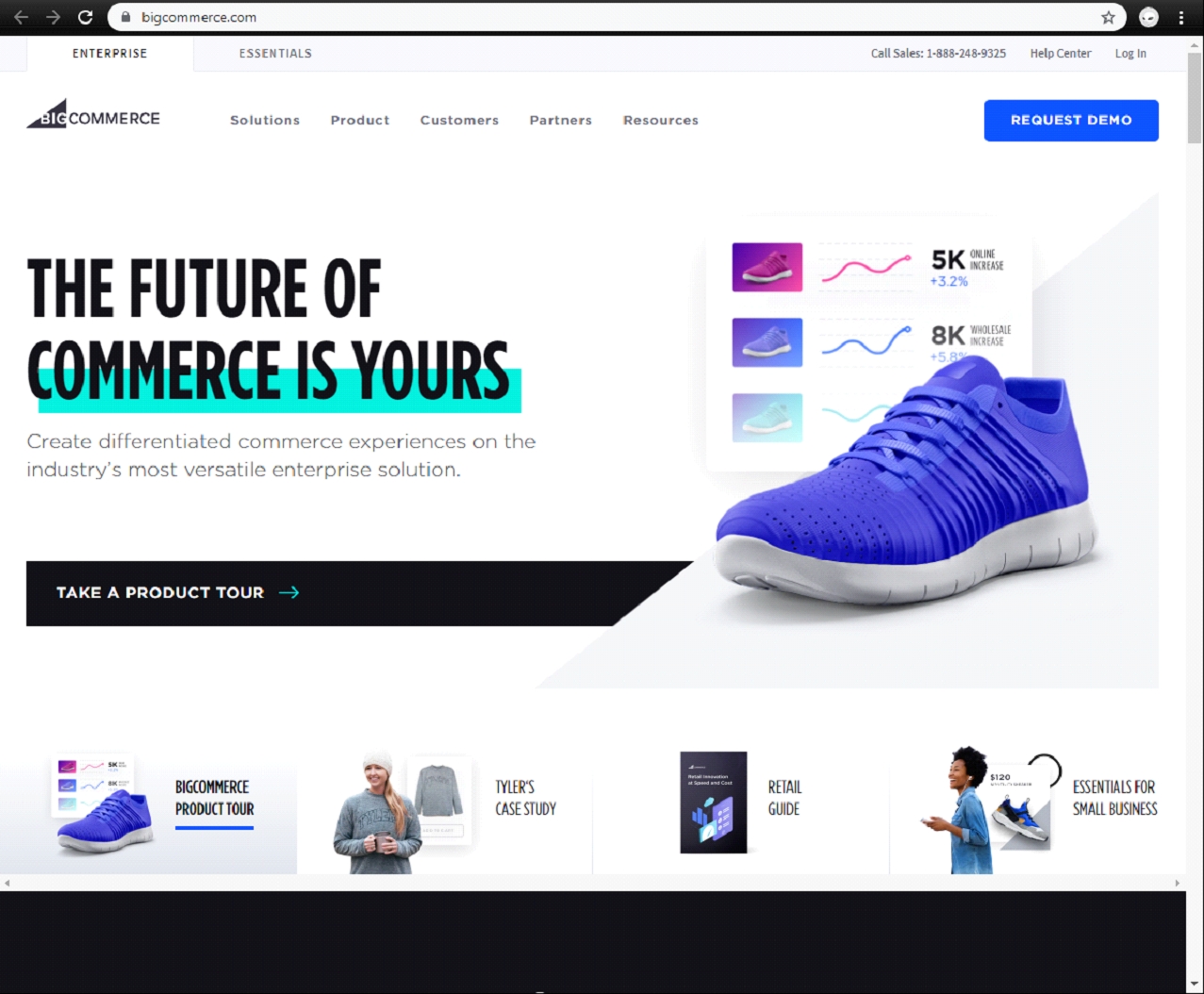 bigcommerce landing page