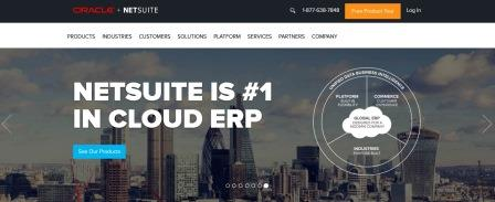 SAAS ecommerce examples - NetSuite