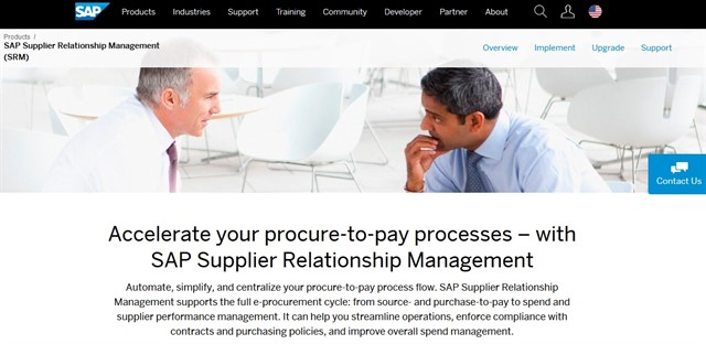 E procurement tools and services - SAP SRM