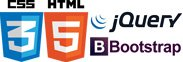 CSS 3, HTML 5, Jquery, Bootstrap