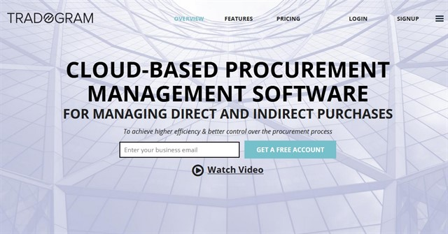 E procurement tools and services - Tradogram